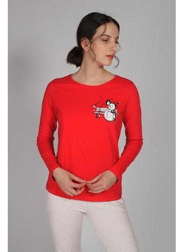 Hays Kadın Penye Pijama Üstü Kırmızı